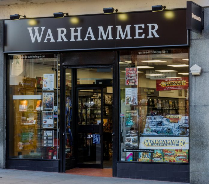 Retail shop of Games Workshop